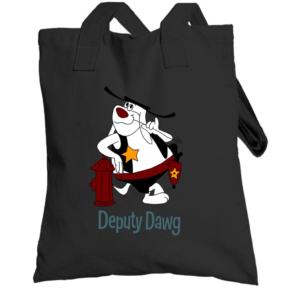Deputy Dawg Hydrant Cartoon Totebag