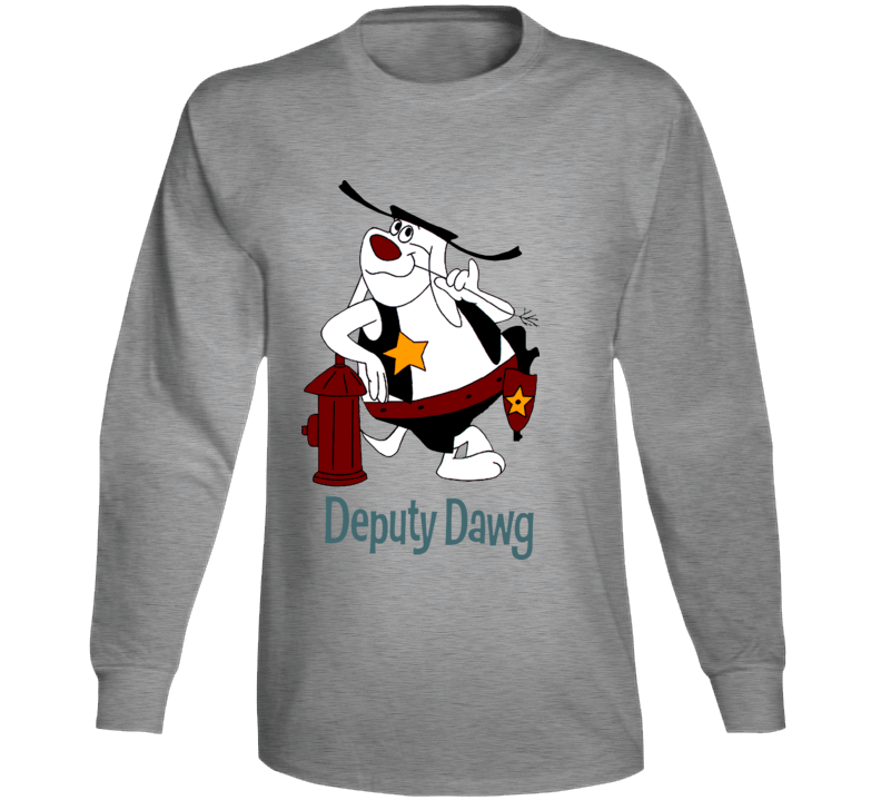 Deputy Dawg Hydrant Cartoon Long Sleeve
