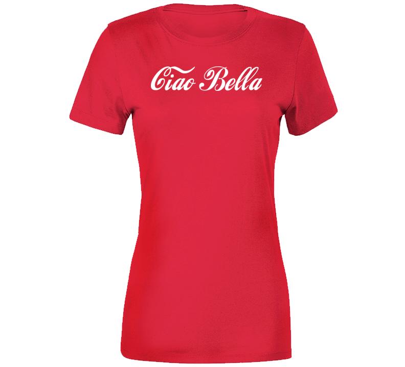 Ciao Bella Cola Parody  Premium Ladies T Shirt