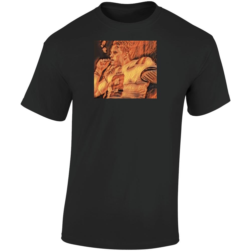 Joe Burrow On Fire Smoking  T Shirt