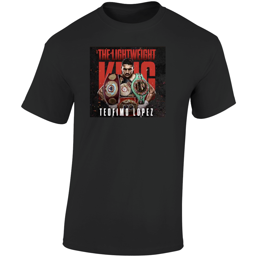 Teofimo Lopez King Of Boxing 4 Belts Champ T Shirt