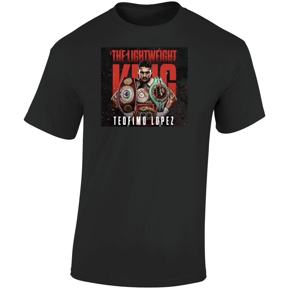Teofimo Lopez 4 Belts Lightweight  Champion T Shirt
