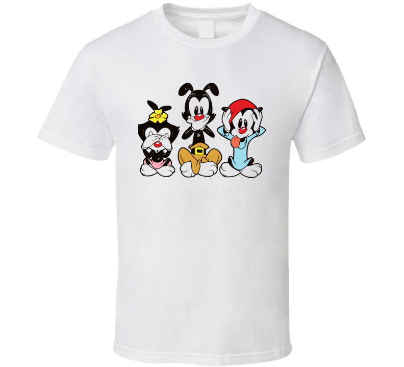 Animaniacs See Hear Speak No Evil Cartoon T Shirt
