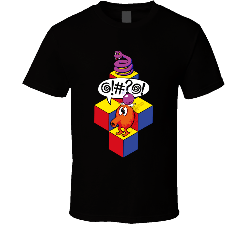 Qbert Arcade Classic Video Game T Shirt