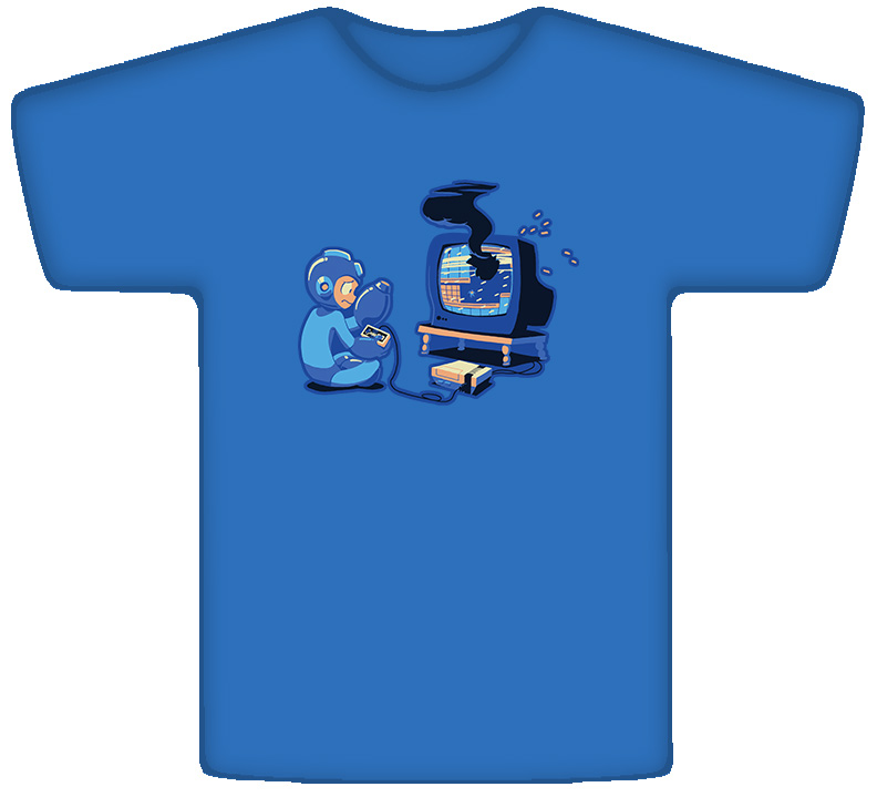 Mega Man Mega Mistake Video Game T Shirt