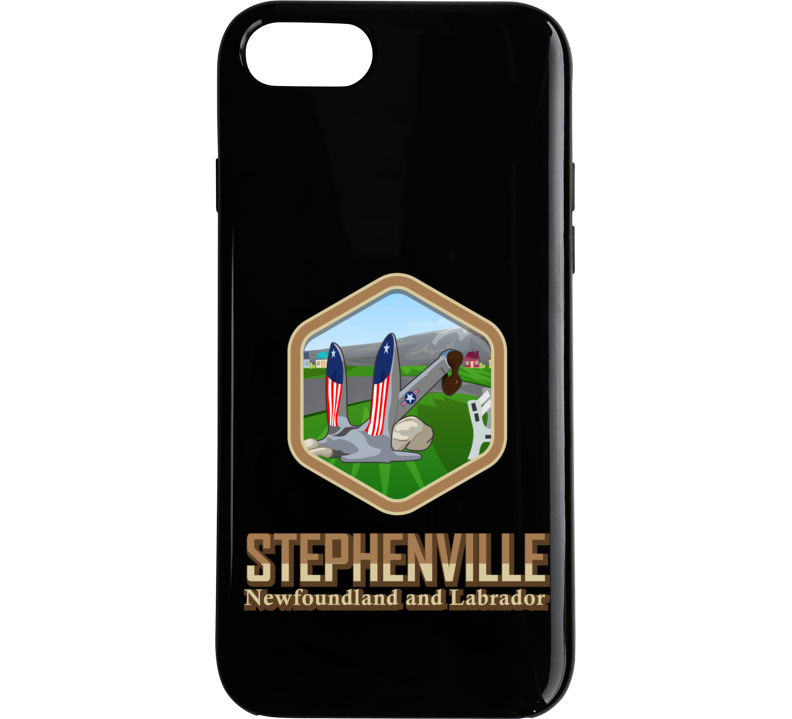 Black Stephenville With Anchor Hexagon Phone Case