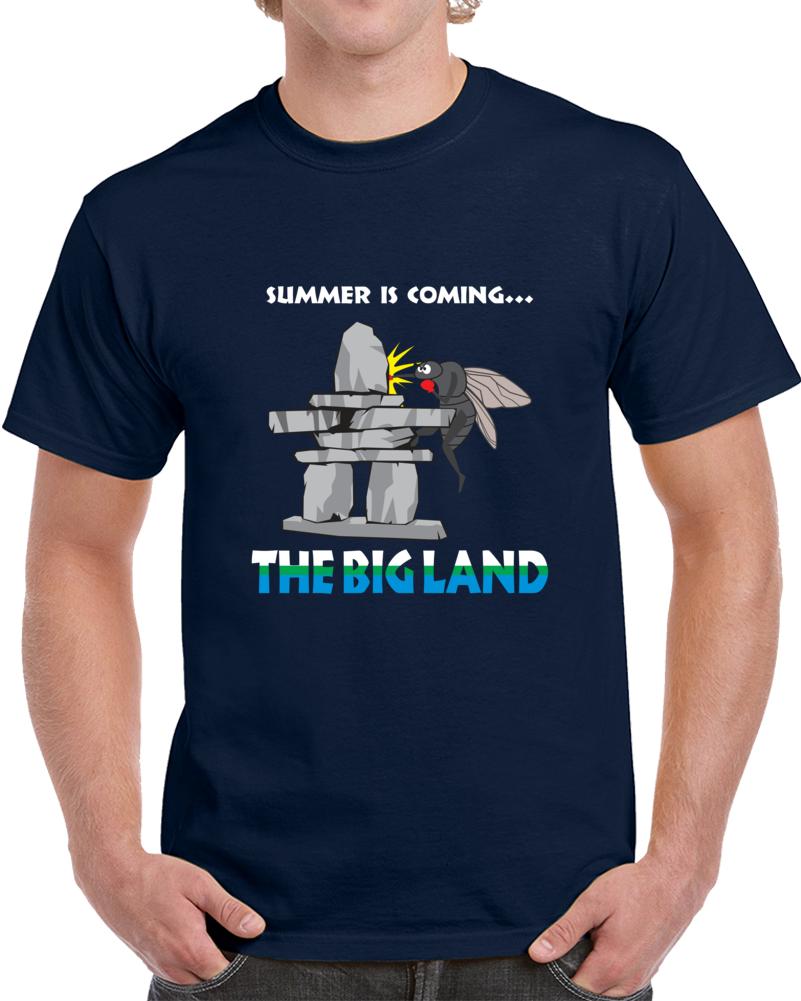Navy Blue Blackfly The Big Land T Shirt