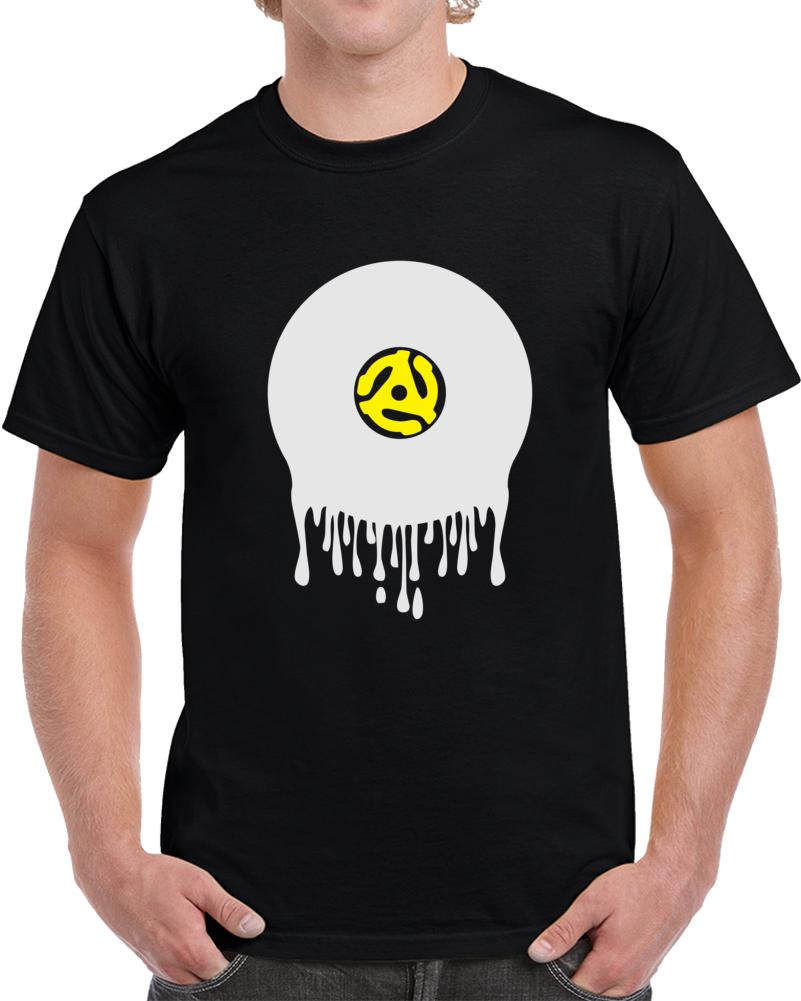 Black Dripping Vinyl Record T Shirt