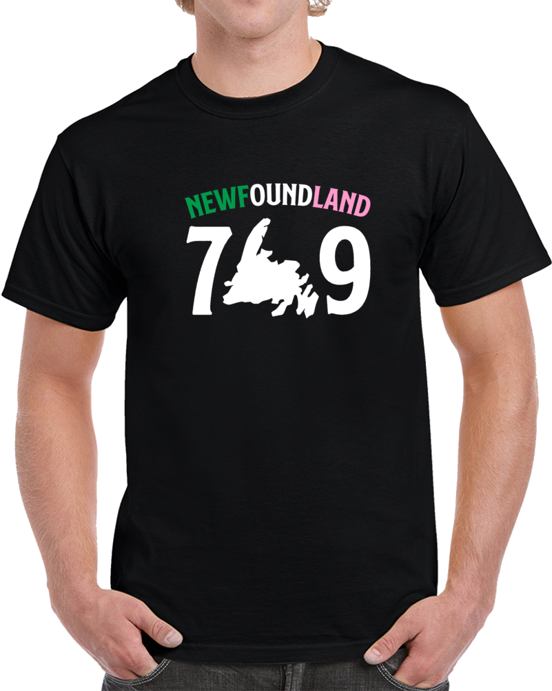 Black Republic Of Newfoundland 709 T Shirt