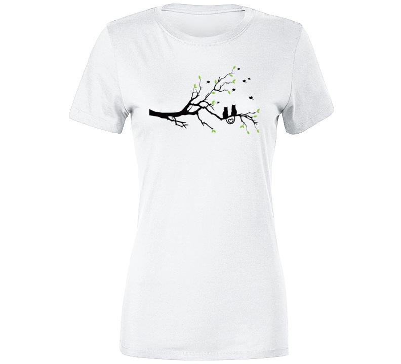 Tree Branch Cats T Shirt