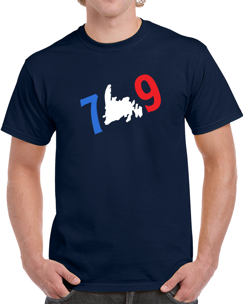 White Newfoundland Map 709 T Shirt