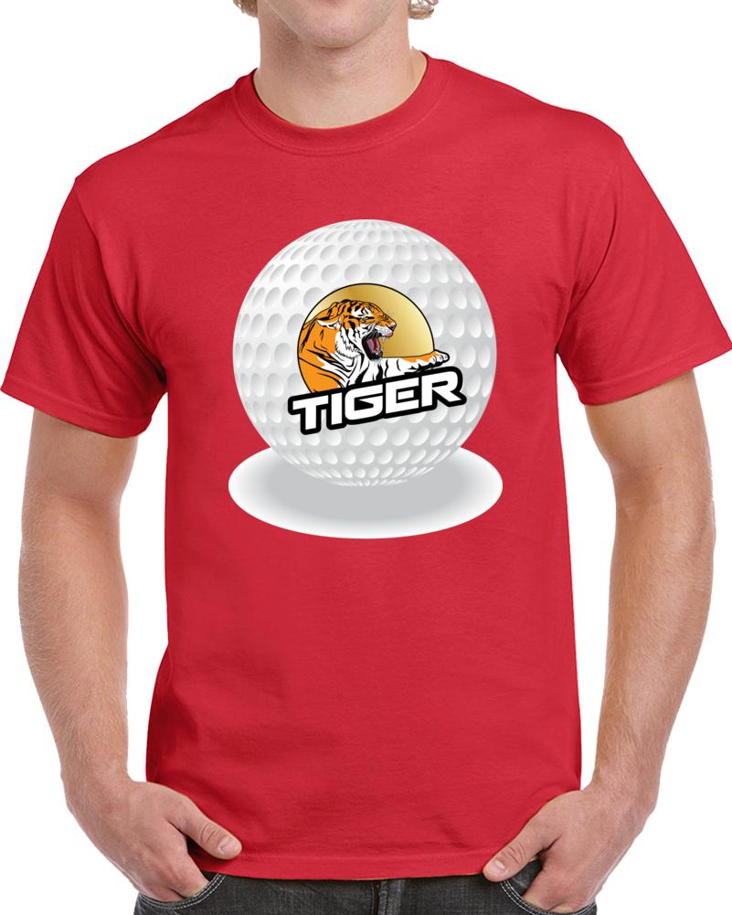 Tiger Golf Ball Putt T Shirt