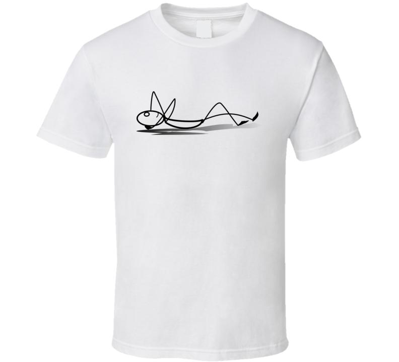 Stickman Laying Down T Shirt