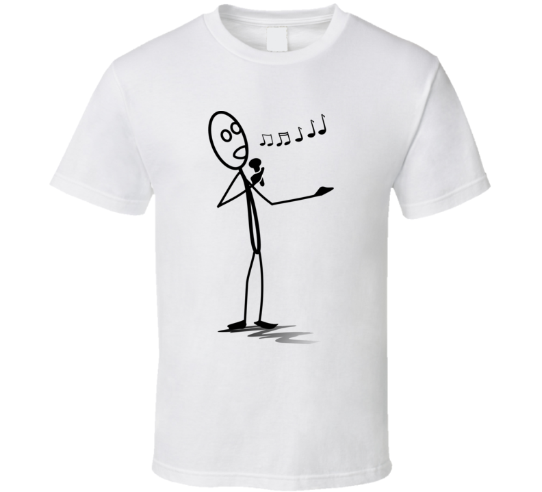 Stickman Singing T Shirt