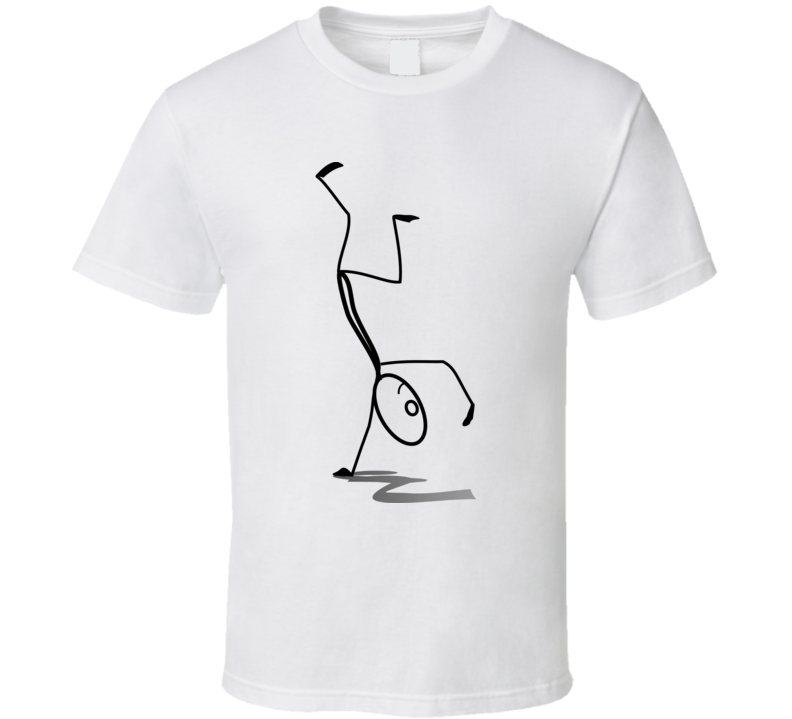 Stickman One Hand Stand T Shirt