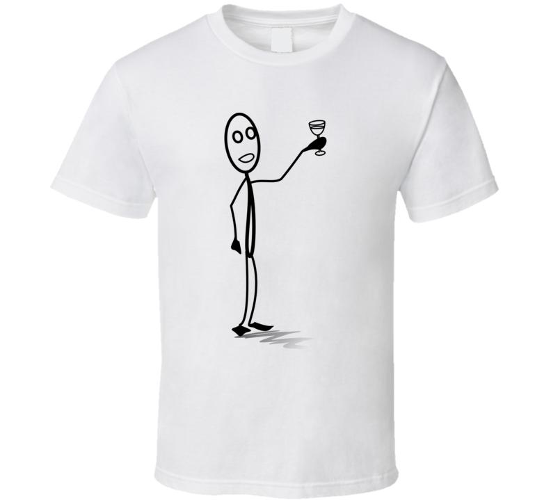 Stickman Toasting  T Shirt