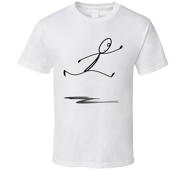 Stickman Running T Shirt