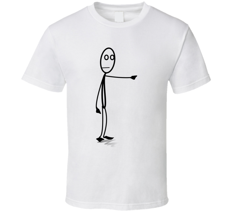 Stickman Pointing Finger T Shirt