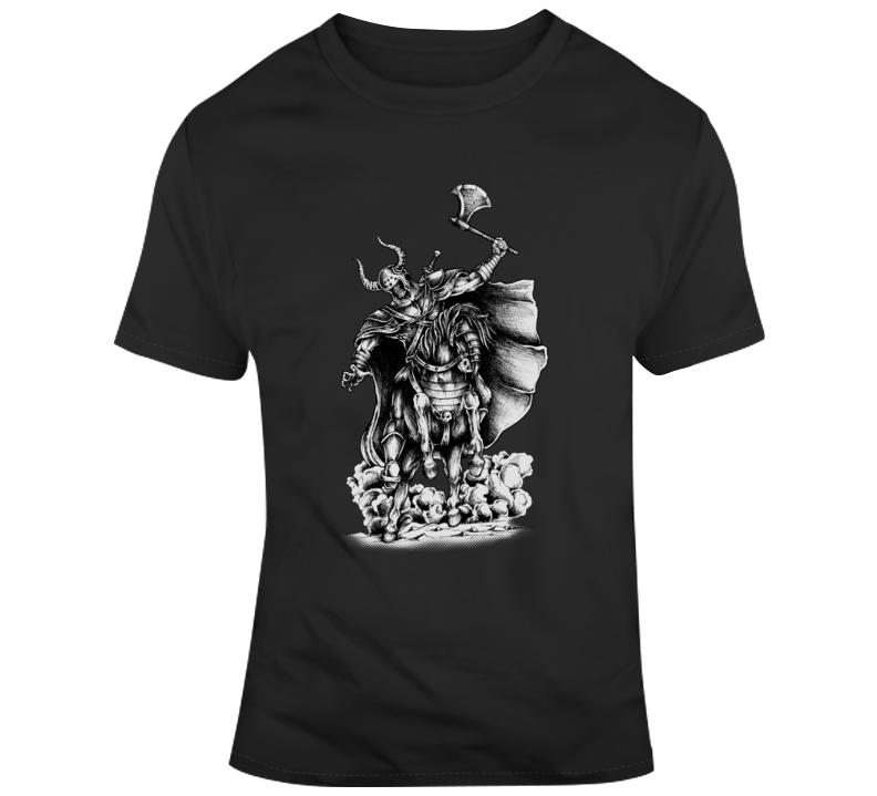 Viking Norse Horse Axe Vikings T Shirt