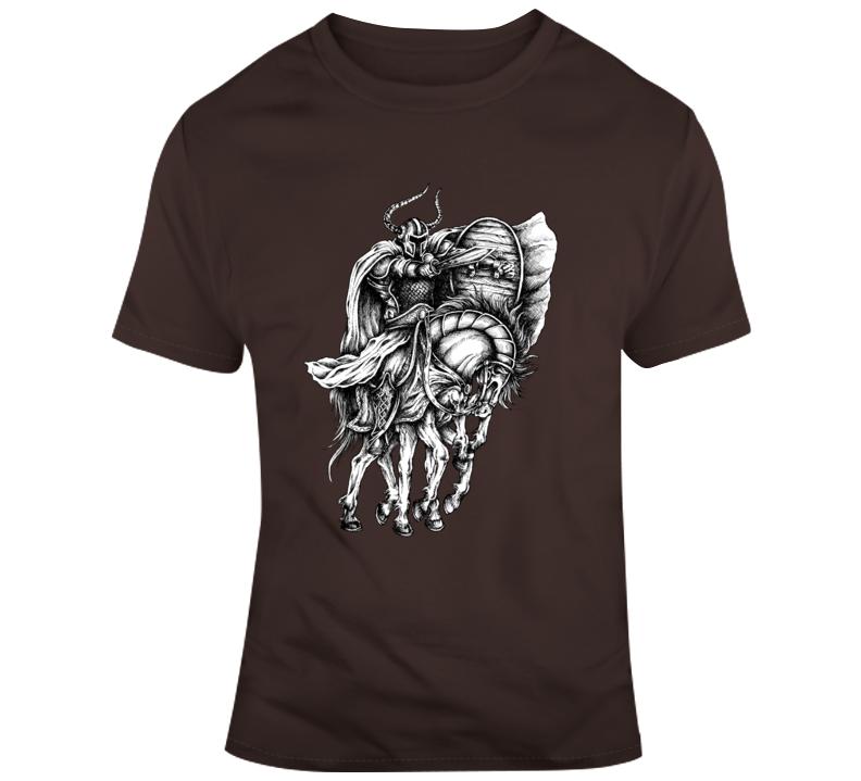Viking On Horse Shield Sword Vikings T Shirt