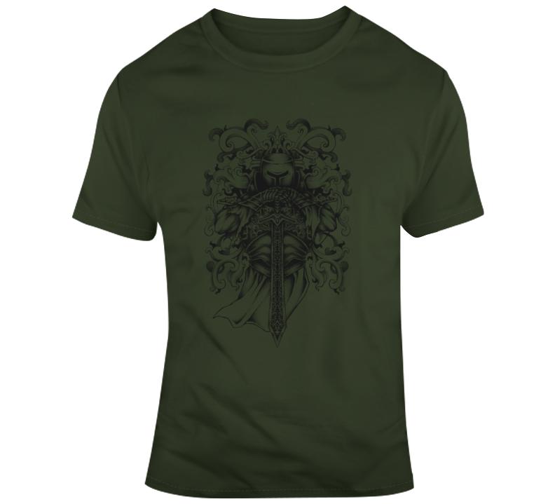 Viking Norse Knight Stance Sword T Shirt