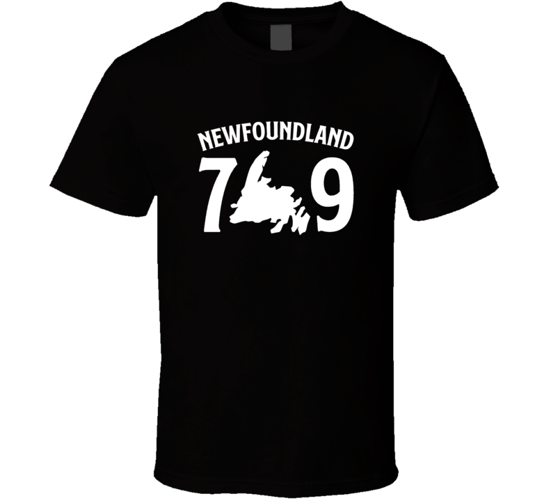 Newfoundland 7 Island 9 All White T Shirt