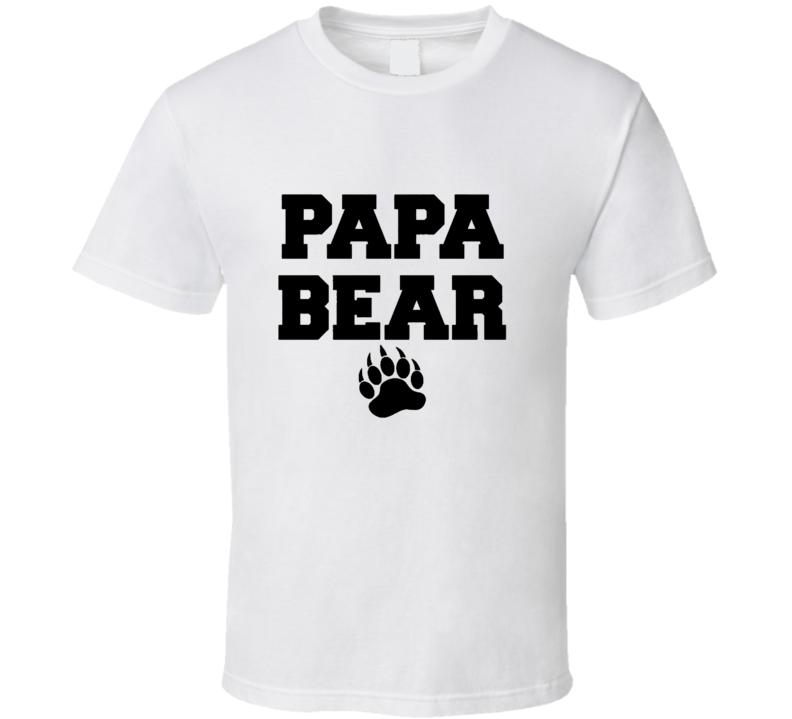 Cool Papa Bear Fathers Day Gift  T Shirt