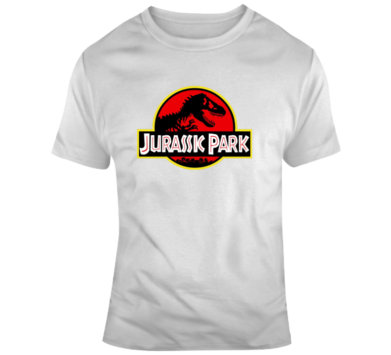 Original Jurassic Park Logo Dinosaur World Movie T Shirt