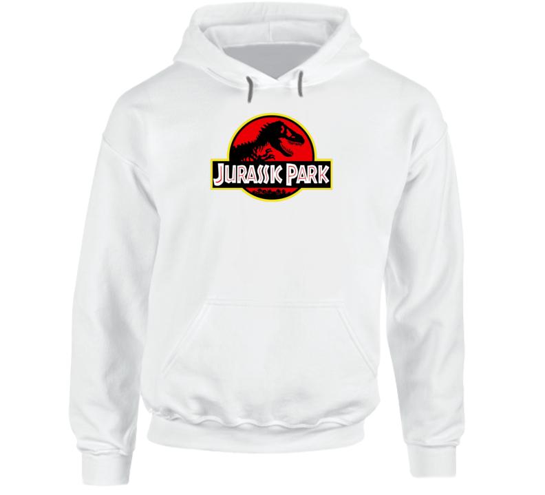 Original Jurassic Park Logo Dinosaur World Movie Hoodie