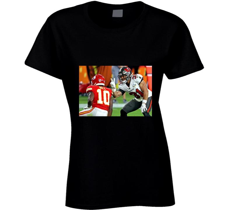 Antoine Winfield Jr Peace Sign Tyreek Hill Tampa Bay Football Team Fan Ladies T Shirt