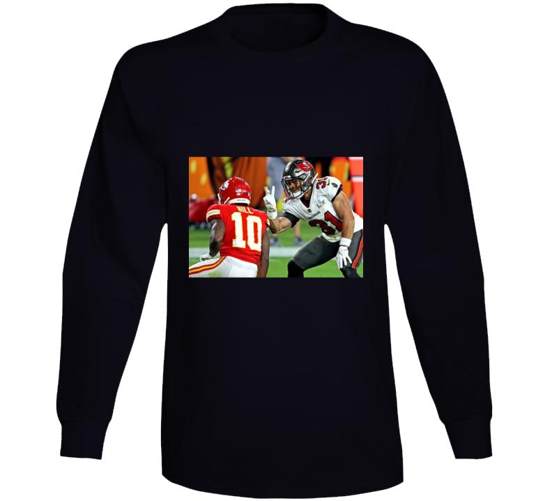 Antoine Winfield Jr Peace Sign Tyreek Hill Tampa Bay Football Team Fan Long Sleeve T Shirt