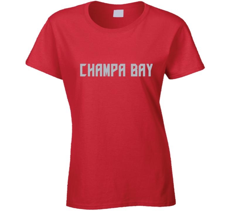 Champa Bay Football Fan Ladies T Shirt