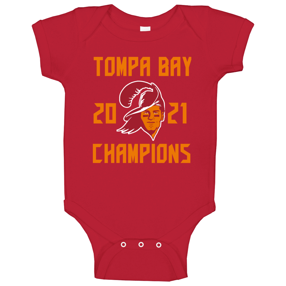 Tompa Bay 2021 Champions Super Bowl Lv Tampa Football Fan Baby One Piece