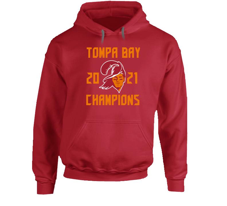 Tompa Bay 2021 Champions Super Bowl Lv Tampa Football Fan Hoodie
