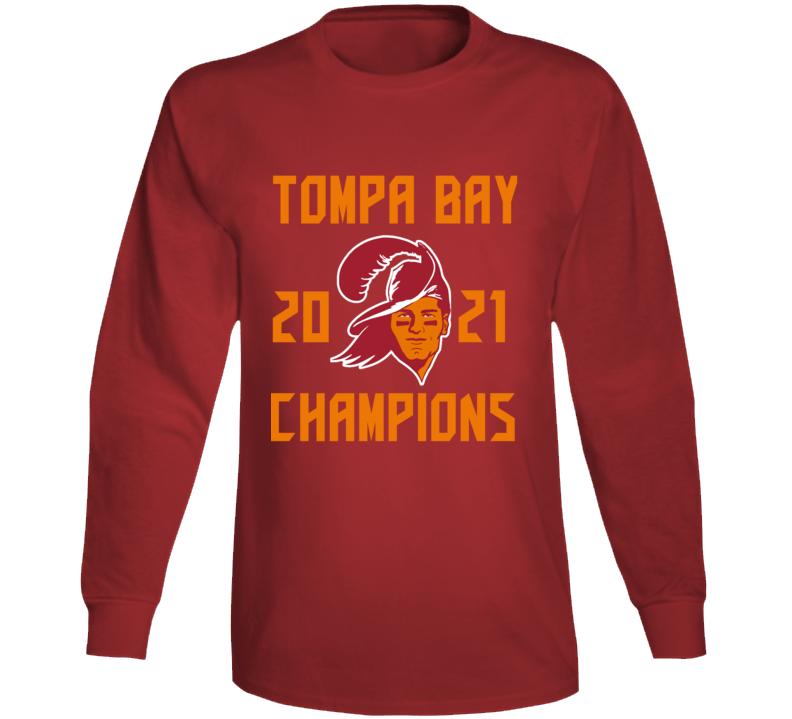 Tompa Bay 2021 Champions Super Bowl Lv Tampa Football Fan Long Sleeve T Shirt