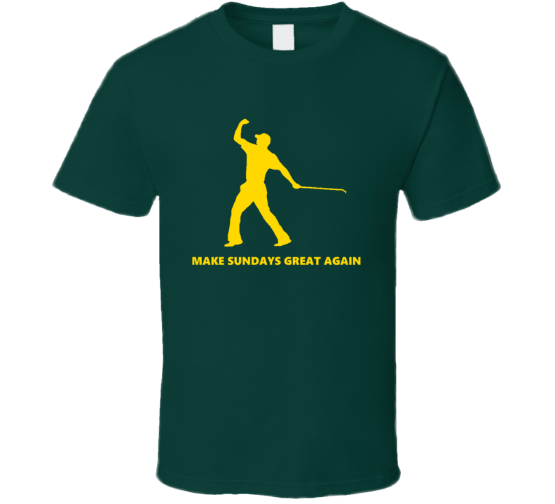 Make Sunays Great Again Tiger Woods Golf Fan  T Shirt