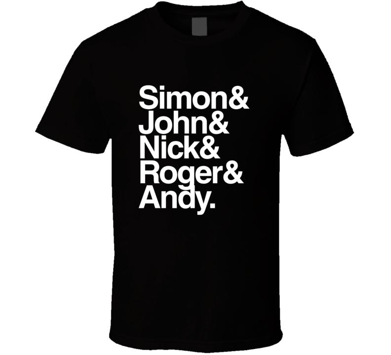 Duran Duran Names T Shirt