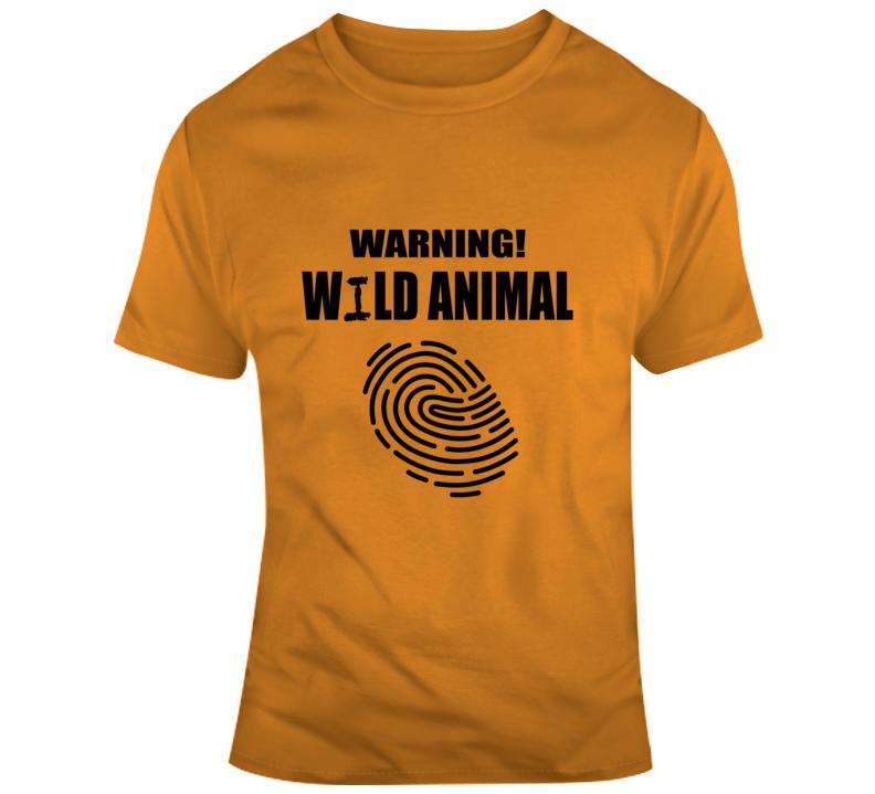 Warning Wild Animal - Halloween T Shirt