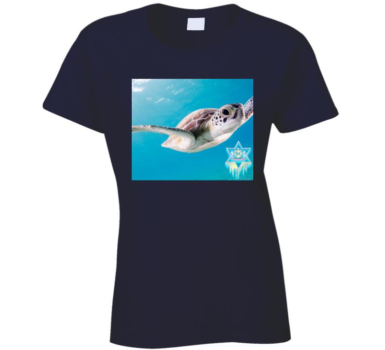 Turtle Crewneck Sweatshirt Ladies T Shirt