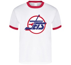 Winnipeg Jets Logo Retro Hockey T Shirt