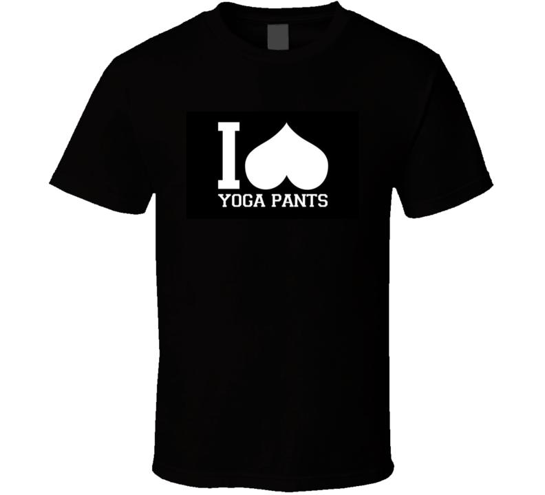 Funny I Heart Yoga Pants T-Shirt Black