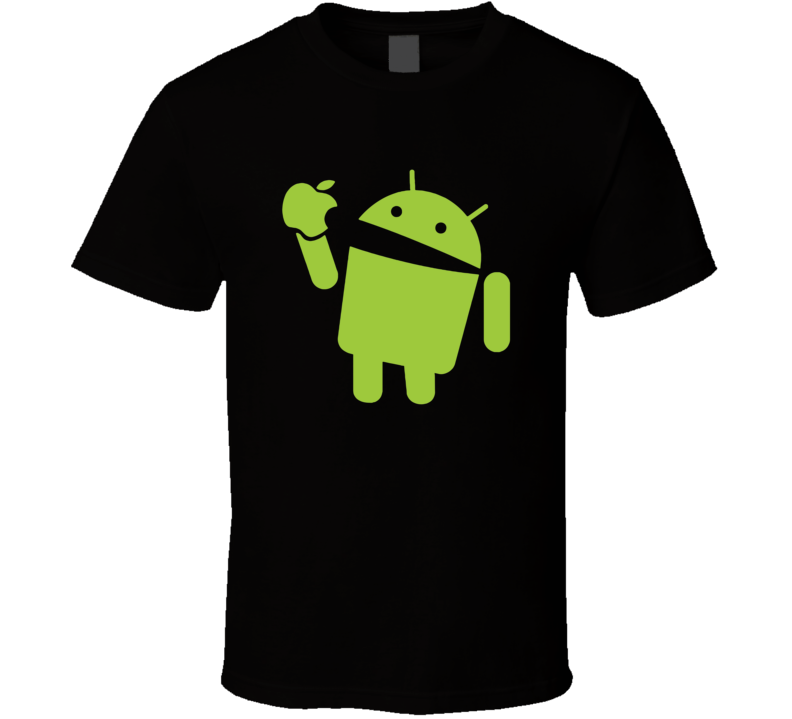 Android eats apple funny nerd computer t shirt