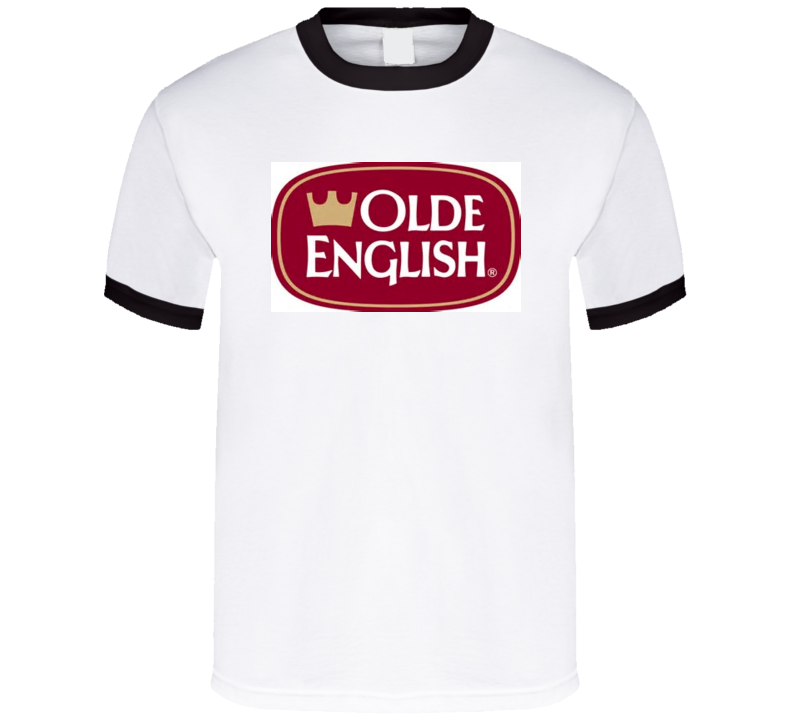 Olde English 800 Malt Liquor Beer T Shirt Ringer