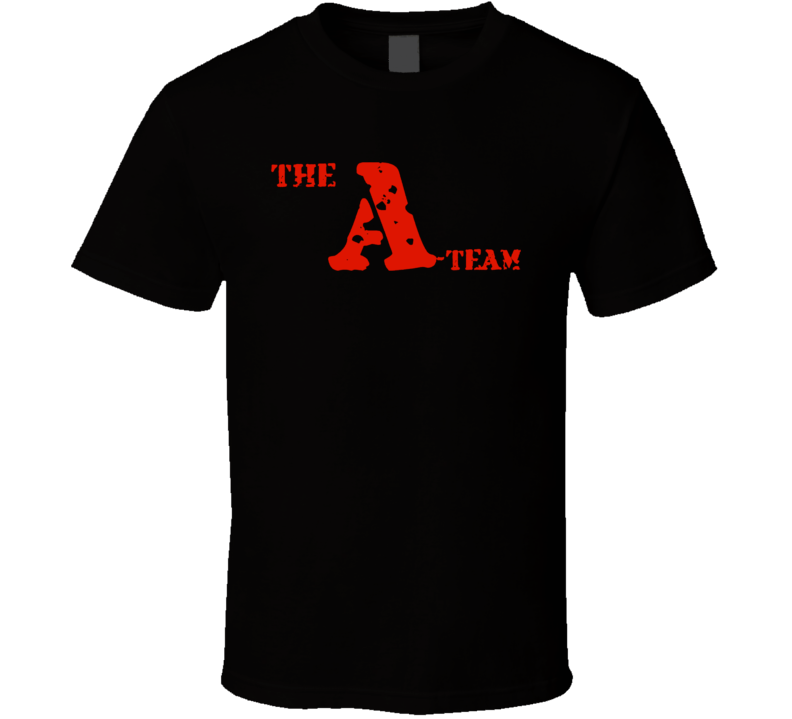 A Team New Movie Tv Show Black T Shirt