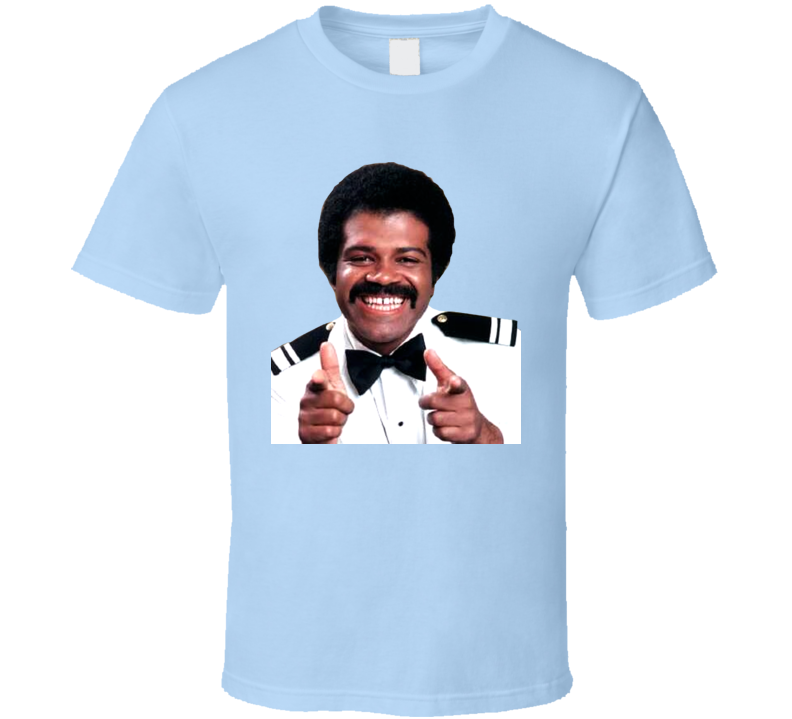 Isaac The Love Boat Tv Show Funny Light Blue T Shirt