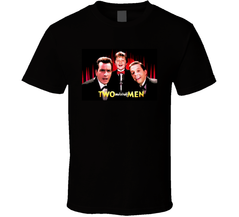 Two And A Half Men Tv Show Charlie Sheen Black T Shirt