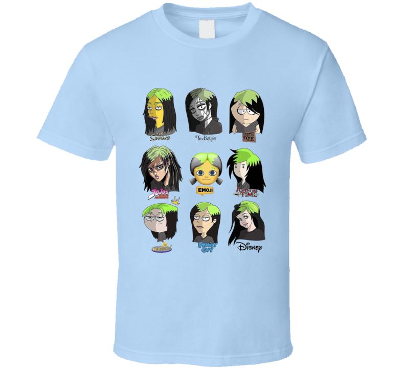 Billie Cartoon Mashup Music Fan T Shirt