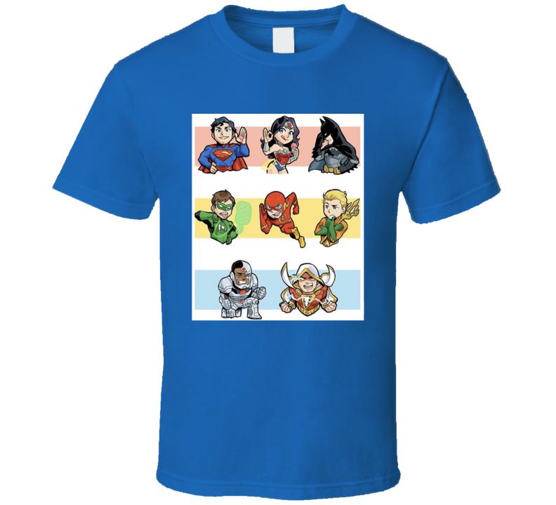 Superhero Cartoon Style T Shirt