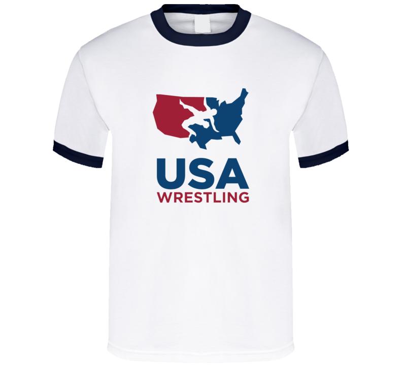 Usa Wrestling Association America Logo T Shirt