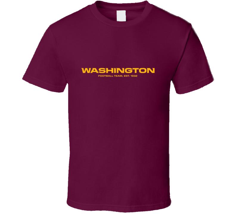 Washington Football Team Established 1932 T Shirt